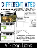 Differentiated African Lions Research Books