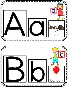 Differentiated Alphabet Letter and Beginning Sound Cards