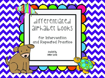 Differentiated Alphabet Books for Letter Recognition Pract