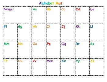 Differentiated Alphabet Mats