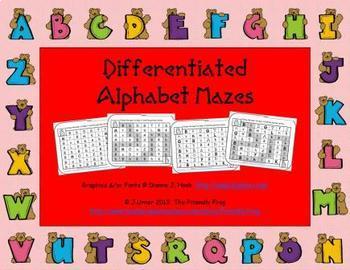 Differentiated Alphabet Mazes