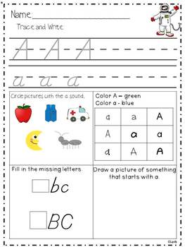 Differentiated Alphabet Worksheets {Joined Letters}