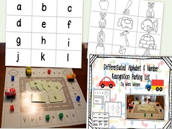 Alphabet and Number Recognition Parking Lots: Differentiated