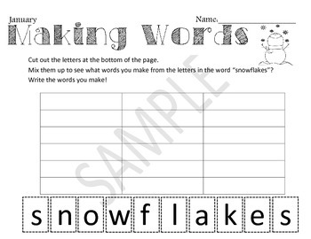 Differentiated Alphabetizing and Word Making-ABC order