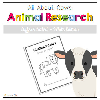 Differentiated Animal Research: All About Cows White Edition