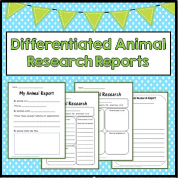 Differentiated Animal Research Reports