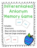 Differentiated Antonym Cards (Opposite Cards)