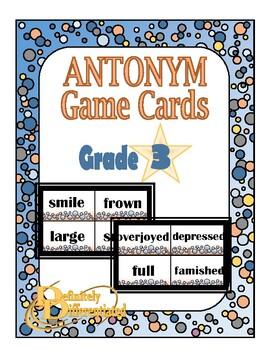Differentiated Antonym Game Cards