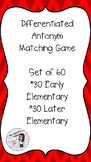 Differentiated Antonym Matching Game