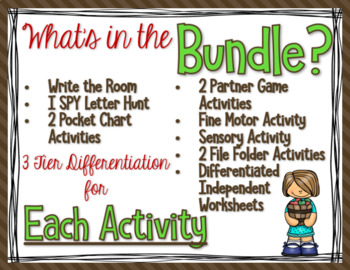 Differentiated Apple Literacy Centers Bundle