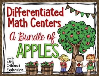 Differentiated Apple Math Centers Bundle