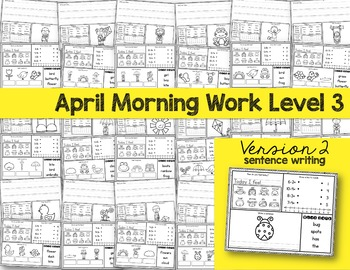 Intermediate Special Education Morning Work: April Edition {3 Levels!}