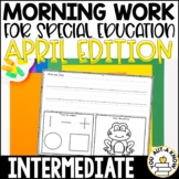 Intermediate Special Education Morning Work: April Edition