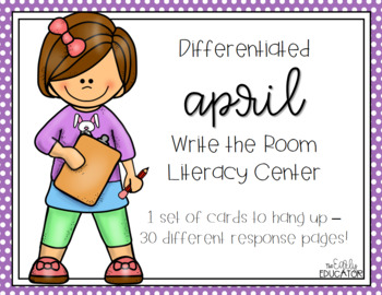 Differentiated April Write the Room Center
