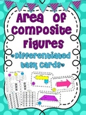 Differentiated Area of Composite Figures Task Cards
