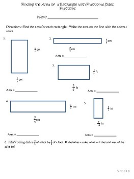Differentiated Area of a Rectangle with Fractional Sides