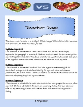 Differentiated Argument or Opinion Activities