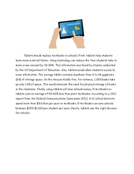 Differentiated Argument or Opinion Activities - Tablets in School