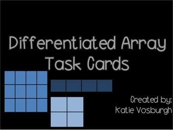 Differentiated Array Task Cards