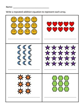 Differentiated Assessments - Repeated Addition Equations and Arrays (2)