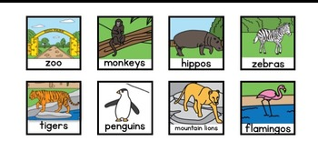 Differentiated At the Zoo Interactive Book