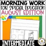 Intermediate Special Education Morning Work: August Editio