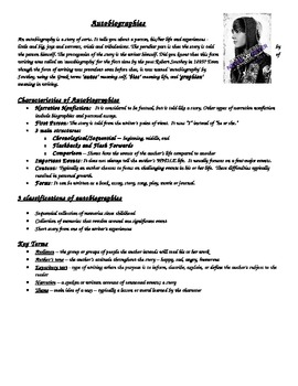 Differentiated Autobiographies, Biographies, and other Genres