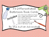 Differentiated Bathroom TEACHH Task Cards (Yes/No, Math, Object Identification)