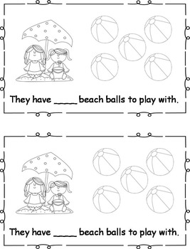 Differentiated Beach Ball Fun Emergent Readers Set