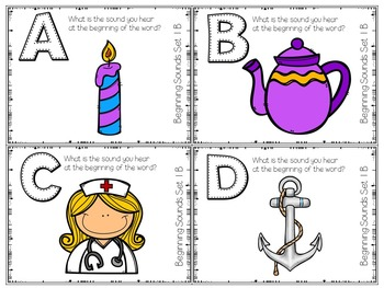 Differentiated Beginning Sounds Roam the Room Task Cards