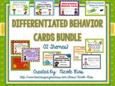 Differentiated Behavior Cards Growing Bundle