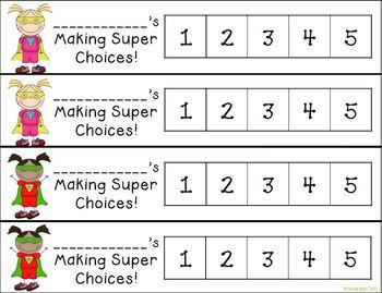Differentiated Behavior Cards - Super Hero Theme