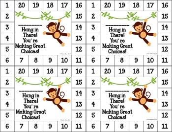 Differentiated Behavior Cards - Zoo Animals Theme (Editable)