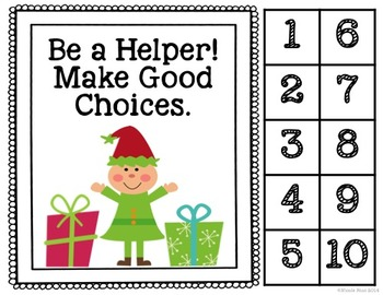 Differentiated Behavior Management Cards - Christmas / Winter Theme (EDITABLE)