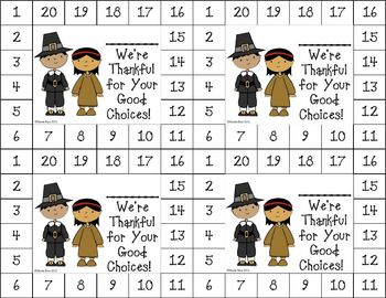 Differentiated Behavior Management Cards - Fall Themes