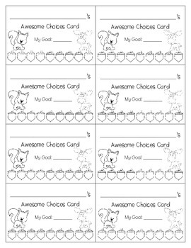 {FREEBIE} Differentiated Behavior Punch Cards