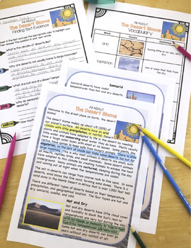 Differentiated Biomes Reading Passages, Biomes Distance Learning Packet Bundle