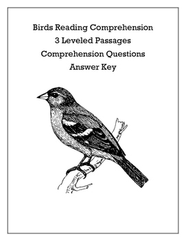 Differentiated Birds Reading Comprehension