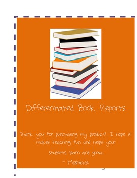 Differentiated Book Report- 3 Levels