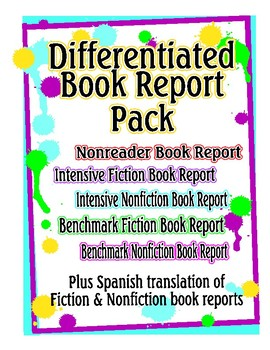 Differentiated Book Report Pack