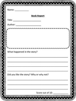 Primary Book Report Pack: Differentiated to work for all of your students!