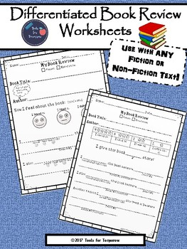 Differentiated Book Review Worksheets For Fiction & Non-Fiction