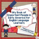 Differentiated Book of Important Early Americans for ESOL