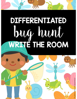 Differentiated Bug Hunt Write the Room {CVC, CVCe, Digraphs, & Vowel Teams Sort}
