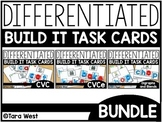 Differentiated Build It Task Cards BUNDLE: CVC, CVCE, Blends, Digraphs