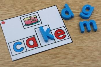 Differentiated Build It Task Cards BUNDLE: CVC, CVCE, Blends, Digraphs