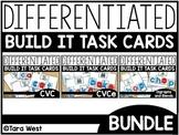 Differentiated Build It Task Cards BUNDLE: CVC, CVCE, Blen