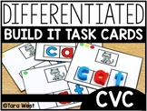 Differentiated Build It Task Cards: CVC Version