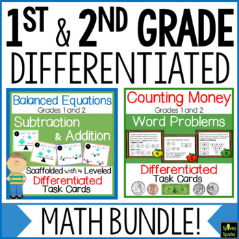 1st and 2nd Grade Math Centers