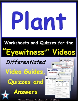 A Differentiated Bundle - Worksheet, Quiz, Ans for 38 Eyewitness * Videos